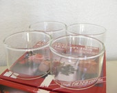 RESERVED Vintage -Hard to Find- NOS Blown Glass Ramekins - Set of 8 - Like Pyrex