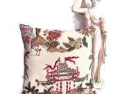 Reserved for Erin Thibaut Tea House Pillow Cover