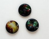 Glow in the dark NEBULA buttons