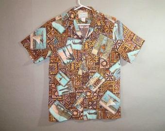 Hawaiian Shirt //KALAHEO  Cotton // Tiki // Surf // Duke ...smalllo