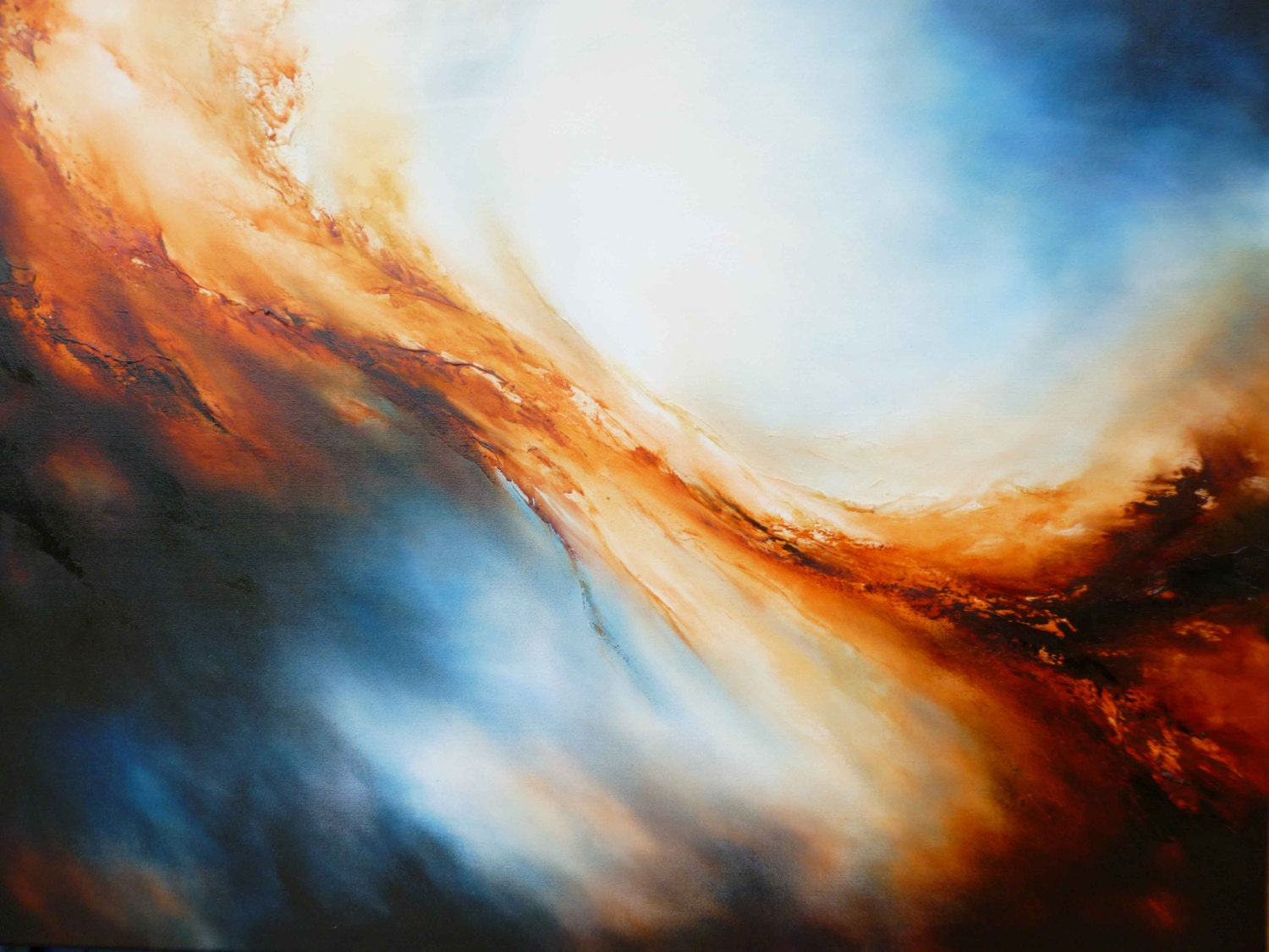 Large canvas abstract oil painting by artist simon kenny for How to abstract paint