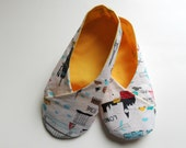 Womens Kimono Slippers - Indoor Shoe - Customized for Mother's Day, Bridal Shower, Mom-to-be