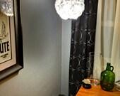 "10"" Purple lavender and white glitter hanging lamp / lantern"