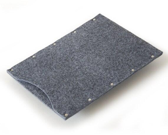 MacBook 11 Air Case,11 inch Sleeve Cover - grey synthetic felt  handmade by SleeWay