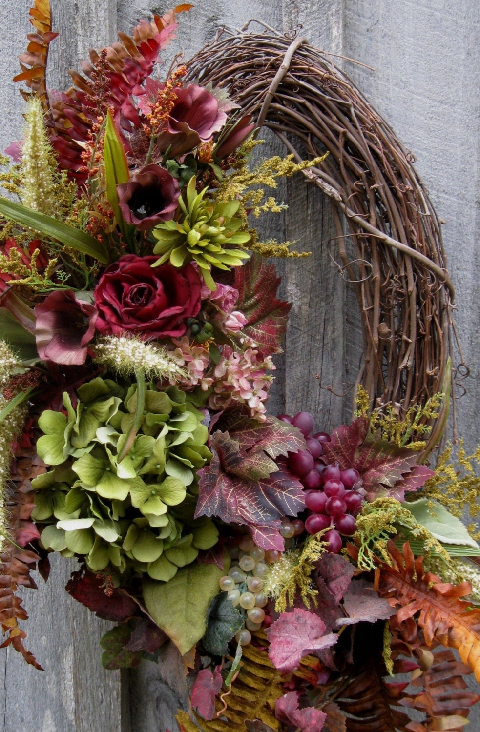 Fall Wreath Tuscany Autumn Decor Elegant Floral Wreath