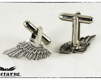 Steampunk Wings Cufflinks - Best Man Cuff Links - Steampunk Victorian Gothic Jewelry
