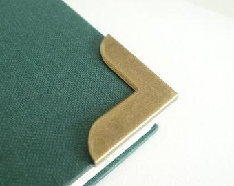 12 pieces Antique Bronze Large Metal Book Corners - Bookbinding - Scrapbooking - Photo Album - Diary - Journal