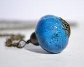 Vintage Donkey Bead Pendant Necklace Handmade Bead