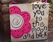 handcrafted, handpainted wood wall decor sign
