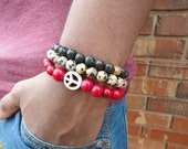 Peace Three Stack- Stackable Men's Bracelet