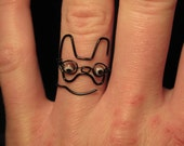 Wire Wrapped French Bulldog MADE to ORDER Ring