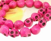 12mm gemstones Loose Peach Turquoise skull beads stone FULL STRAND 16""
