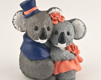 Koalas Wedding Cake Topper Bride and Groom Clothing