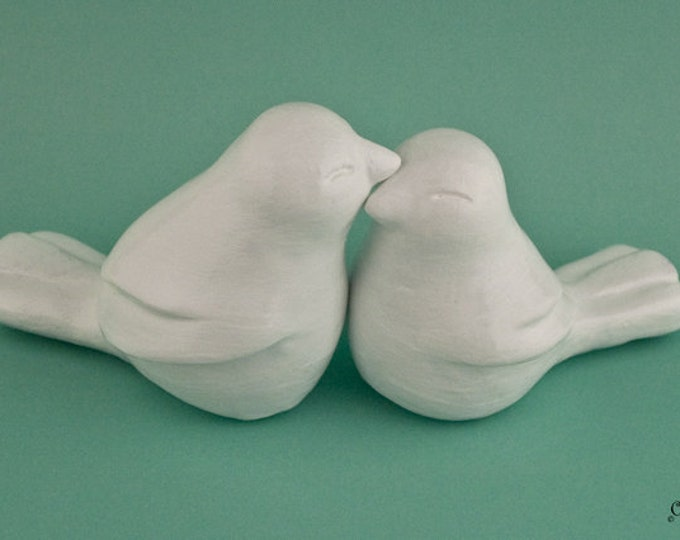 Chubby Love Birds Cake Topper
