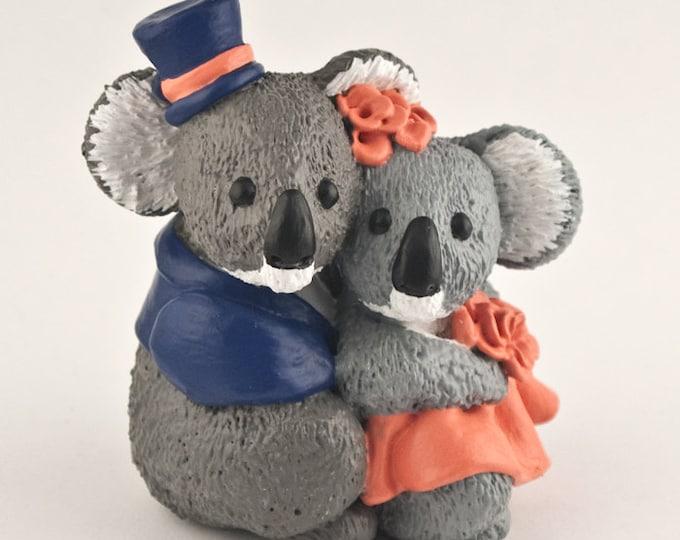 Koalas Wedding Cake Topper Bride and Groom Clothing