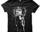 Black T Shirt - Street art Graphic Tee S M L XL - Men