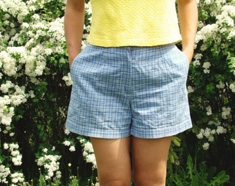 Vintage 90's Blue Checked Shorts