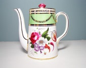 """Vintage """"Old English"""" Bone China Coffee or Tea Pot by Allerton's"""
