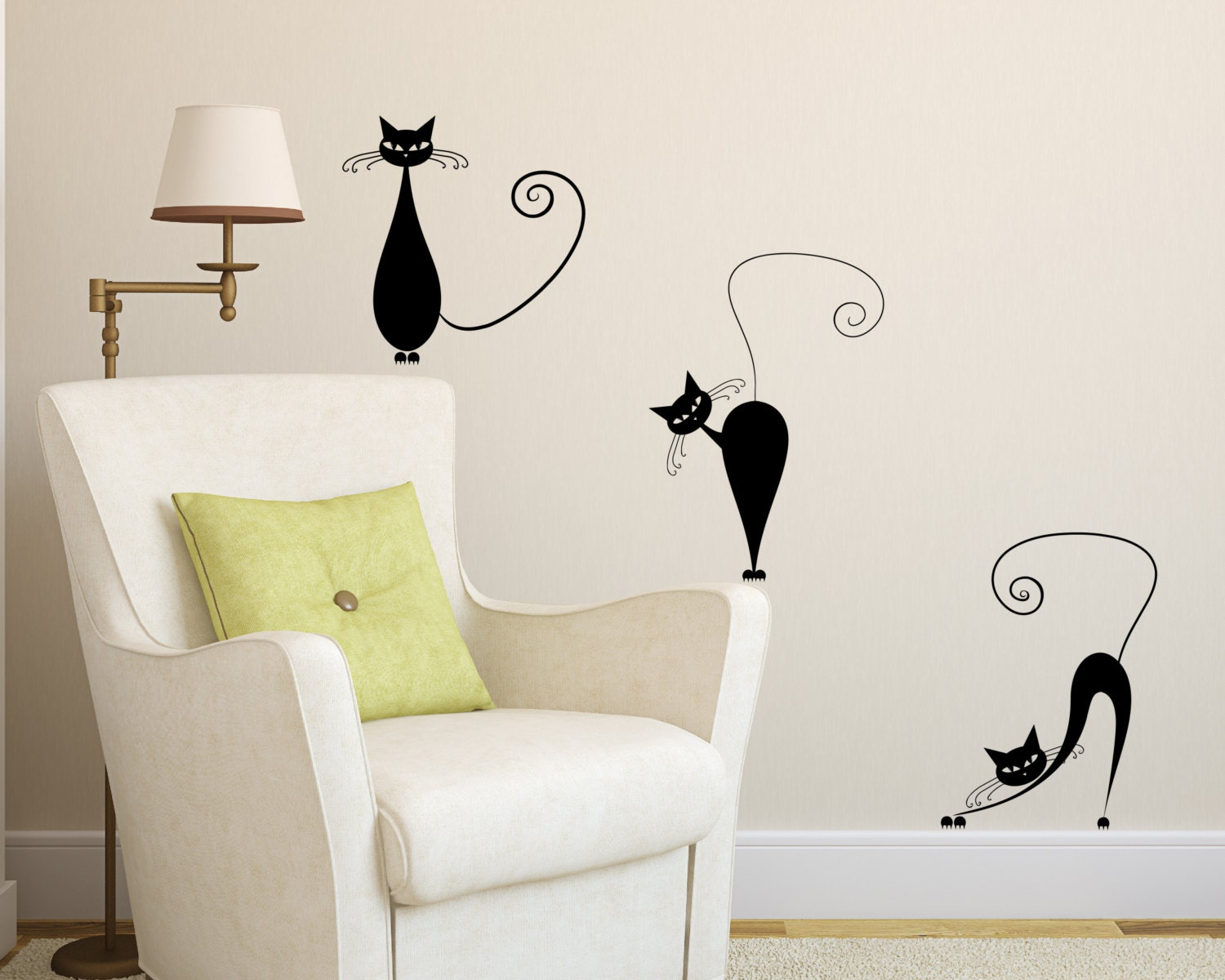 ... Decal 3 Cute Cats Wall decals. 🔎zoom