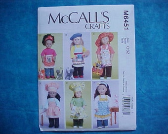 McCalls Crafts American Girl Pattern M6451.