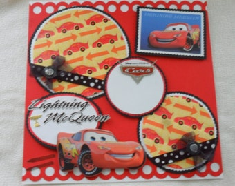 Disney Cars Lightning McQueen Tow Mater 12x12 Premade Scrapbook Page by KARI