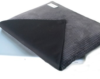 15inch Macbook Pro Sleeve, Mens15 inch Laptop Padded Case, Houndstooth 17 inch Laptop Case, 15 inch Suede Cover