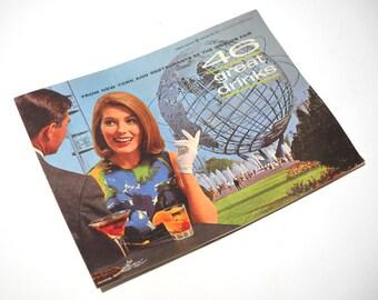 1960s Worlds Fair Souvenir: 46 Great Drinks Drink Recipes Mod Illustrations