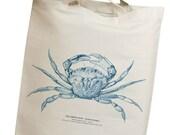 Blue Crab Eco Friendly Canvas Tote Bag (isl007)