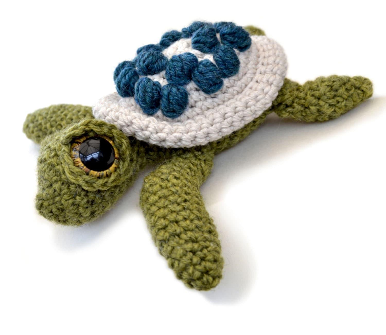 Amigurumi Turtle Crochet Patterns : Amigurumi sea turtle crochet pattern pdf instant download