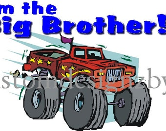 Big Brother monster truck iron-on shirt transfer NEW by kustomdesignzbyk