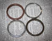 12 pieces  30 mm Split Key Rings Key for  Key Chains  Antique Bronze, Silver, Antique Silver and Antique Copper