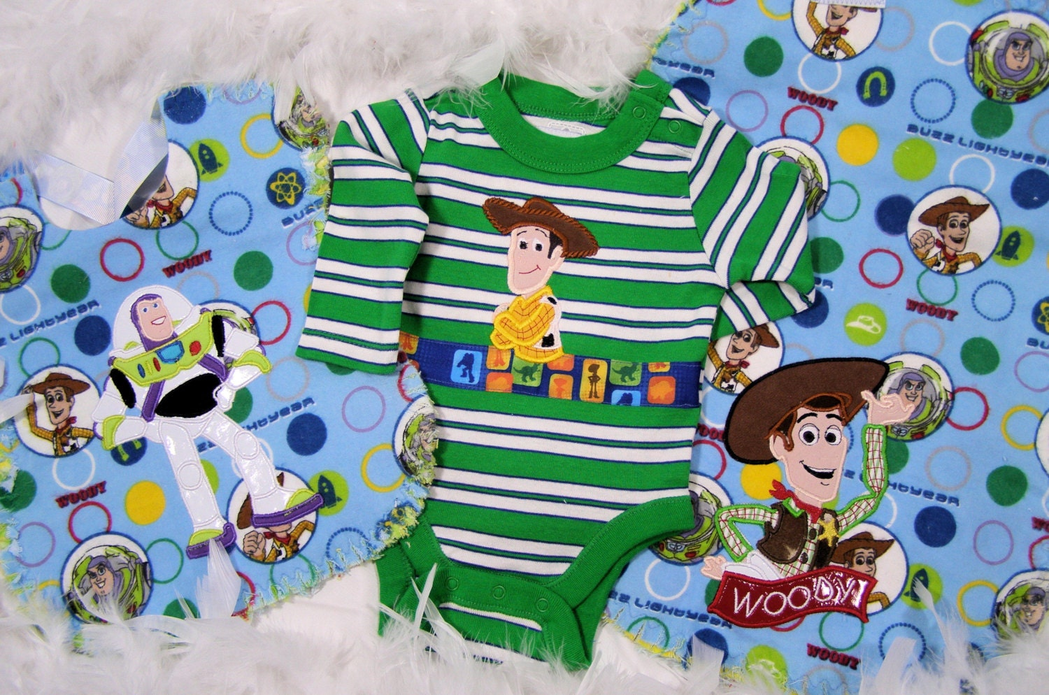 toy story theme baby shower gift onesie bib by fairytalefrocks