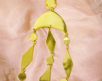 Gold Geometric Chandelir Necklace