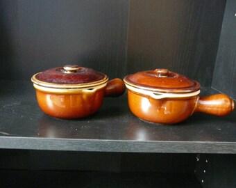 Vintage Set of Two Hall Ramekins/Soup Bowls