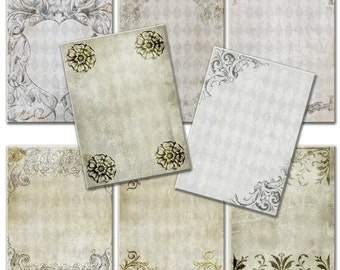 Download  victorian time  with frames on Vintage paper - Gift tags,  ACEO cards, Printable Digital Collage Sheet to Download and Print 169