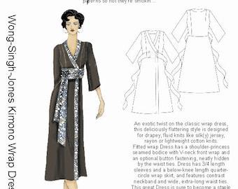 HP 1008 Wong-Singh-Jones Kimono Wrap Dress