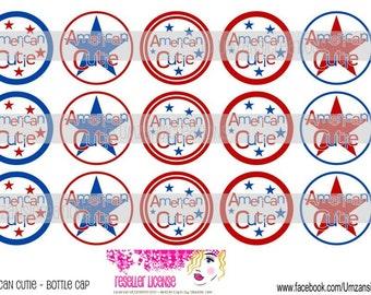 "15 American Cutie Digital Download for 1"" Bottle Caps (4x6)"