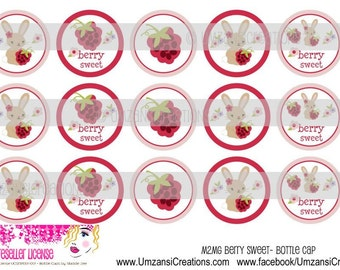 "15 M2MG Berry Sweet Digital Download for 1"" Bottle Caps (4x6)"
