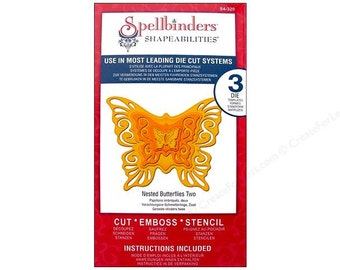 On Sale ---  Spellbinders Shapeabilities NESTED BUTTERFLIES TWO