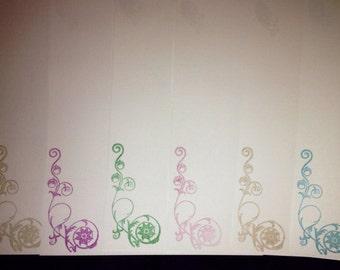 Swirly letter writing set