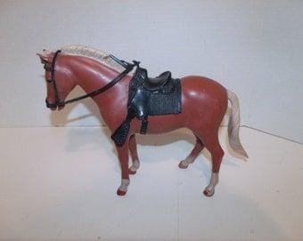 Vintage Marx Horse with Western Saddle