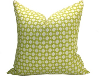 Betwixt pillow cover in Chartreuse/Ivory