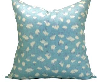 Kelly Wearstler Feline pillow cover in Lake/Slate