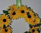 Gorgeous Custom hand sewn Sunflower and Burlap Wreath