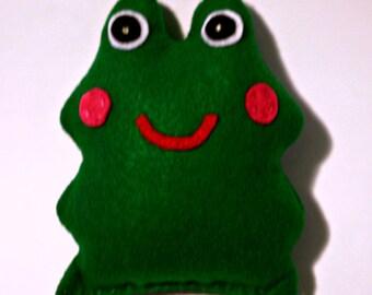 Felt stuffed frog doll