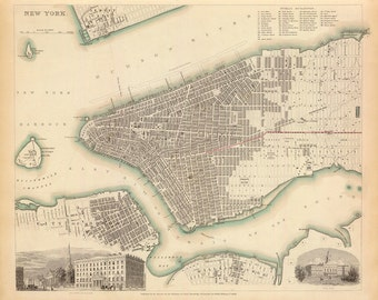1840 Map of New York City