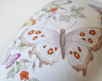 Porcelain Egg Box Avon Butterfly