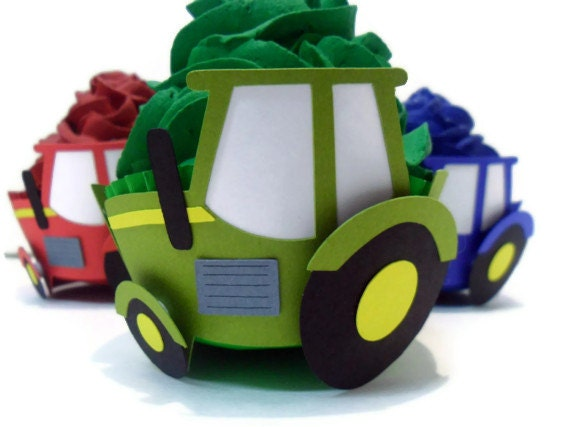 Tractor Cupcake Wrappers - set of 12