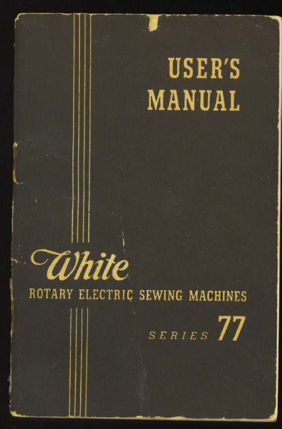 white rotary sewing machine e6354