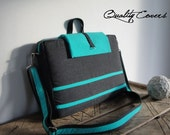 10% OFF Customizable Laptop bag - Messenger bag / PADDED - Made to Order - can be any size and color